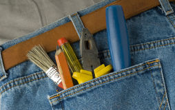 Tools. In the pocket of a jeans Stock Photography