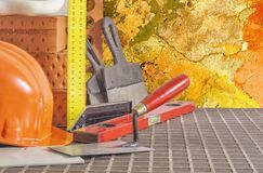Tools and accessories for building repair royalty free stock photography