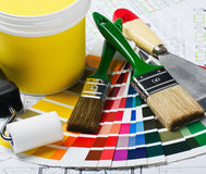 Tools and accessories for home renovation Royalty Free Stock Photography