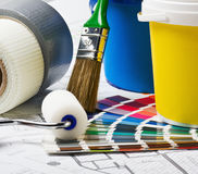 Tools and accessories for home renovation Royalty Free Stock Photos