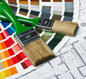 Tools and accessories for home renovation Stock Images