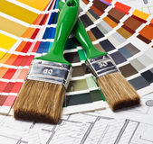 Tools and accessories for home renovation Royalty Free Stock Images