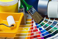Tools and accessories for home renovation Royalty Free Stock Image