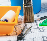 Tools and accessories for home renovation Stock Photography