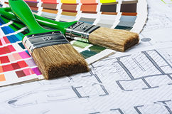 Tools and accessories for home renovation Stock Photos