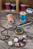Tools and accessories needlework Royalty Free Stock Image