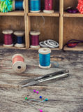 Tools and accessories needlework Stock Image