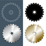 Tools and accessories. Set of Circular saw blade Royalty Free Stock Photography