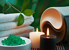 Tools and accessories for spa treatments Royalty Free Stock Images