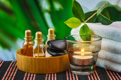 Tools and accessories for spa treatments Stock Photography