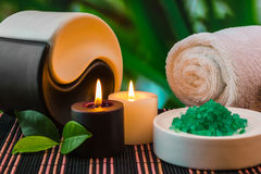Tools and accessories for spa treatments Stock Photos