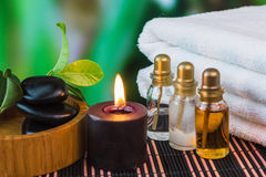 Tools and accessories for spa treatments Royalty Free Stock Photo