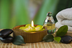 Tools and accessories for spa treatments Royalty Free Stock Photography