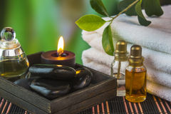Tools and accessories for spa treatments Stock Photo