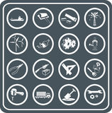 Tools And Industry Icons Stock Photos