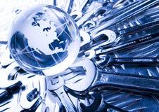 Tools around the world Stock Image