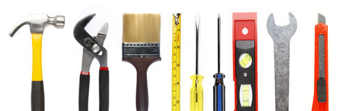 Tools. Assortment of tools on plain background Stock Photography