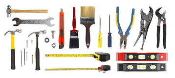 Tools. Assortment of tools on plain background Royalty Free Stock Photography