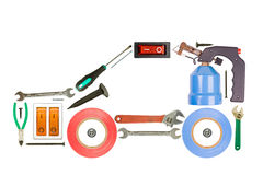 Tools auto. Isolated in white background Royalty Free Stock Photos