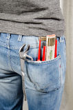 Tools in back pocket Stock Images