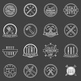 Tools badges and emblems royalty free illustration