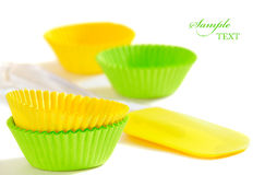 Tools for baking cupcakes Stock Image