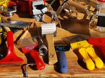 Tools for beekeepers - uncapping stock image