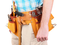 Tools on belt Stock Photos