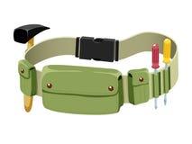 Tools belt. Isolated on white royalty free illustration