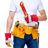Tools belt holding Stock Photo