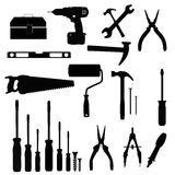 Tools. Black icon set illustration vector illustration
