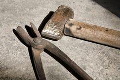 Tools of blacksmith Stock Photography