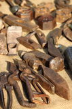 Tools of a blacksmith. In a workbench Stock Photo
