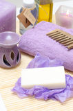 Tools for body care in the spa salon Stock Image