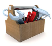 Tools and box Stock Image