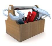 Tools and box Stock Image