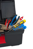 Tools in box. Stock Photos