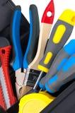 Tools in box closeup. Stock Image