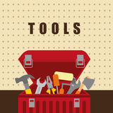 Tools on box Stock Photography