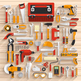 Tools box Stock Photography