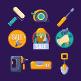 Tools for Building and Repair, Sale. Vector Royalty Free Stock Photo