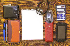Tools for business. The topic of professional activity Royalty Free Stock Images