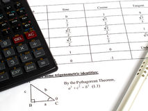 Tools for calculating math Stock Photos