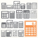 Tools Calculator icons set Stock Photo