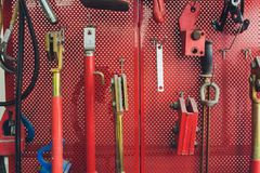 Tools for Car arranged on the wall. Tools for Car arranged on the wall stock images