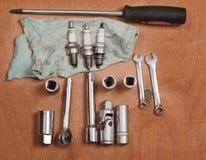 Tools for car repairs Royalty Free Stock Images