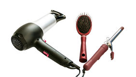 Tools for care of hair stock images