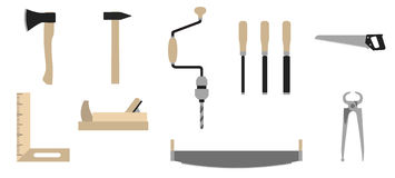 Tools of carpenter Stock Image