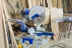 Tools in the carpentry workshop. Royalty Free Stock Images