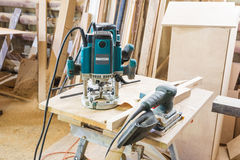 Tools in the carpentry workshop. Royalty Free Stock Photo